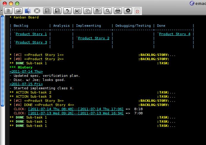 Emacs Org Mode Kanban Pomodoro Oh My Agilesoc